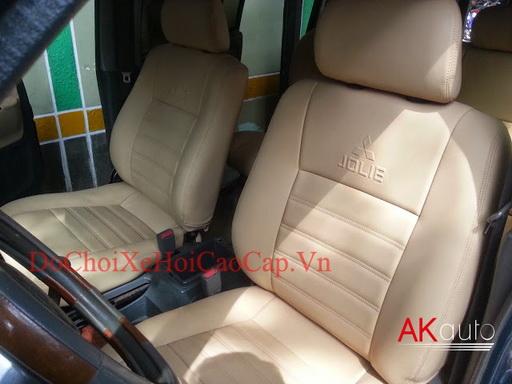 Bọc nệm ghế da cho xe Mitsubishi Jolie